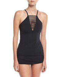 Seafolly - Active High-neck Solid Tankini Swim Top - Lyst