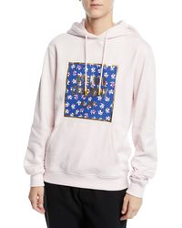 2087327ed7c385 Opening Ceremony - Box Logo Cotton Pullover Hoodie - Lyst