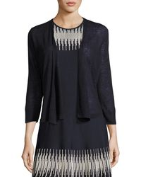 NIC+ZOE - 4-way Linen-blend Knit Cardigan - Lyst