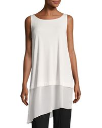 Eileen Fisher - Stretch Silk Jersey Tunic - Lyst