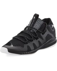 Adidas By Stella McCartney | Crazytrain Bounce Mid-top Fabric Trainer Sneaker | Lyst