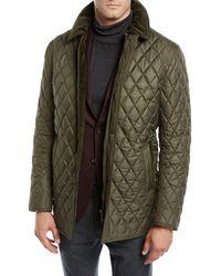 Neiman Marcus - Men's Nylon Quilted Zip-front Coat - Lyst