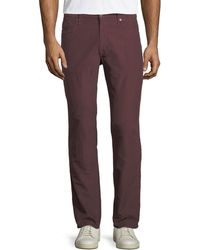 Incotex - Brushed Twill Five-pocket Pants - Lyst
