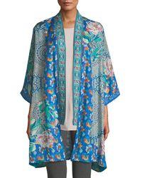 Johnny Was - Coi Mixed-print Silk Kimono Jacket - Lyst