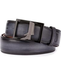 Berluti - Venezia Leather Boot-buckle Belt - Lyst