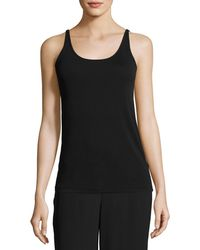 Eileen Fisher - Silk Jersey Long Slim Camisole Plus Size - Lyst