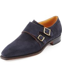 Corthay - Arca Suede Double-monk Shoe - Lyst