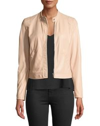 Rebecca Taylor - Perforated Zip-front Leather Jacket - Lyst