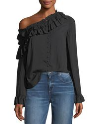 PAIGE - Augustina Button-front Long-sleeve Blouse - Lyst