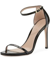 Stuart Weitzman - 105nudist Traditional Gloss Sandal - Lyst