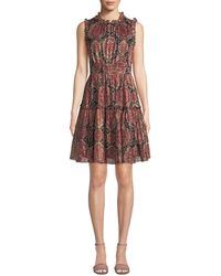 Kate Spade - Medallion Metallic Mini Dress - Lyst