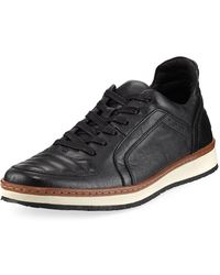 John Varvatos | Barrett Leather Creeper Low-top Sneaker | Lyst
