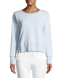 Frank & Eileen - Frayed Crewneck Cotton Sweatshirt - Lyst