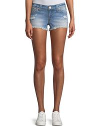 True Religion - Joey Distressed Cutoff Denim Shorts - Lyst