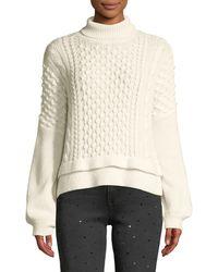 FRAME - Nubby Wool-blend Sweater - Lyst