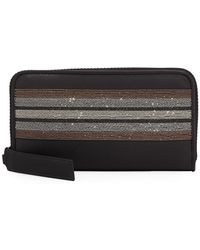 Brunello Cucinelli - Monili-trim Zip-around Wallet - Lyst
