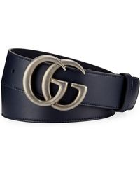 Gucci - Men's Running GG Leather Belt - Lyst