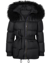 Mr & Mrs Italy - Belted Shearling-trimmed Shell Down Coat - Lyst