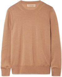 Burberry - Merino Wool Jumper - Lyst