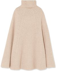 Madeleine Thompson | Charlotte Ribbed Wool And Cashmere-blend Turtleneck Poncho | Lyst
