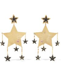 Mercedes Salazar - Gold-tone, Bead And Crystal Clip Earrings - Lyst