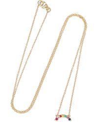 Andrea Fohrman - 14-karat Gold Multi-stone Necklace - Lyst