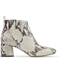 Marc Jacobs - Snake-effect Leather Ankle Boots - Lyst