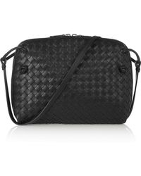 Bottega Veneta - Nodini Small Intrecciato Leather Shoulder Bag - Lyst