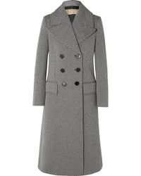 Burberry - Herringbone Wool-blend Tweed Coat - Lyst