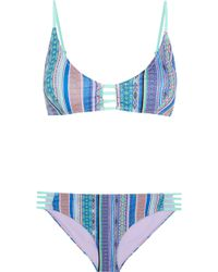 Matthew Williamson - Saya Cutout Printed Bikini - Lyst