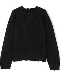 RTA - Emmet Distressed Ribbed-knit Sweater - Lyst