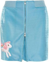 Moschino - My Little Pony Appliquéd Lurex Mini Skirt - Lyst