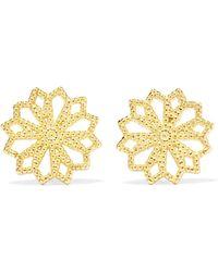 Grace Lee - Lace Deco Vi 14-karat Gold Earrings Gold One Size - Lyst