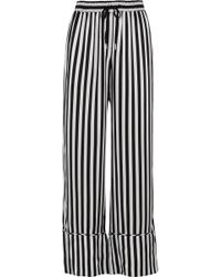 Lee Mathews - Nicolas Striped Silk-satin Wide-leg Pants - Lyst