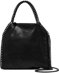 Stella McCartney - The Falabella Mini Faux Brushed-leather Shoulder Bag - Lyst