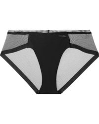 CALVIN KLEIN 205W39NYC - Sculpted Stretch-jersey And Mesh Briefs - Lyst