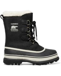 Sorel - Caribou Waterproof Nubuck And Rubber Boots - Lyst