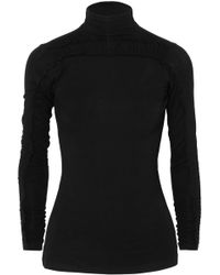 Preen Line - Zahara Ruched Stretch-jersey Turtleneck Top - Lyst