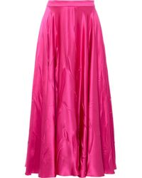 Gucci - Silk-blend Satin Midi Skirt - Lyst