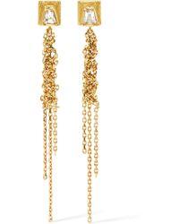 Brooke Gregson - Geo Waterfall 18-karat Gold Diamond Earrings - Lyst