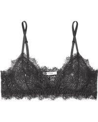 Anine Bing - Rio Stretch-lace Soft-cup Triangle Bra - Lyst