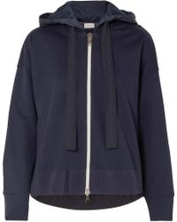 Moncler - Cotton-jersey And Shell Hooded Top - Lyst