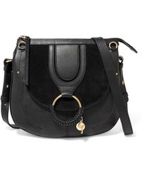 See By Chloé - Hana Medium Textured-leather And Suede Shoulder Bag - Lyst