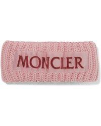 Moncler - Flocked Grosgrain-trimmed Ribbed Wool Headband - Lyst