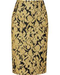Michael Kors - Metallic Brocade Skirt - Lyst
