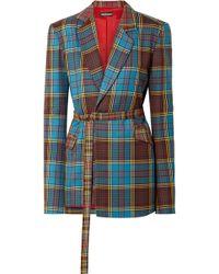 House of Holland - Tartan Tailored Jacket - Lyst