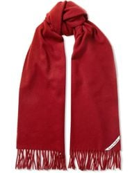 Acne Studios - Canada Narrow Fringed Wool Scarf - Lyst