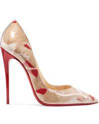 Christian Louboutin - So Kate 120 Logo-print Pvc Court Shoes - Lyst