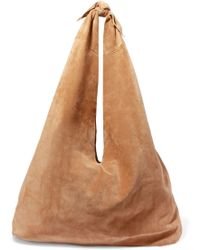The Row - Bindle Suede Shoulder Bag - Lyst