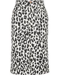 See By Chloé - Animal Print Midi Skirt - Lyst